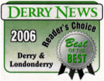 Derry News Reader's Choice Award Logo